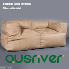 Brand New 2 Seater Bean Bag Cover Soft Suede Living Room Comfortable Loveseat