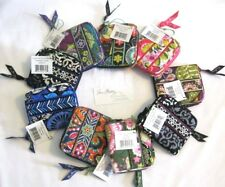 Vera Bradley COMPACT Zip Around WALLET Coin MINI for PURSE Tote BACKPACK Bag NWT