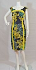 New with Tags Versace Collection Navy Blue/yellow Dress Size 10