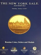 AUCTION OF RUSSIAN COINS, ORDERS AND MEDALS CATALOG BOOK 01.12.17