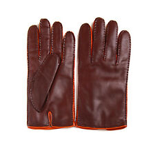 Merola Gloves Dark Brown Leather Mens Gloves Made in Italy