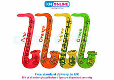 Inflatable Saxophone 75cm Long Fancy Dress Party Music Jazz Hen Stag Fun Toy Qty