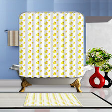 Duck Bathroom Mat Waterproof Polyester Fabric Shower Curtain +12 Hooks 72x72""