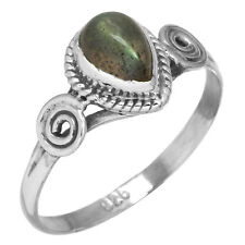Natural Labradorite Ring Solid 925 Sterling Silver Latest Jewelry Size O yn93969