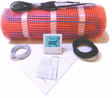 Electric Underfloor Heating Mat 200W/M² Thermostat - Full Size Range Available.