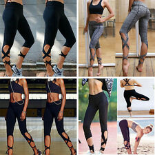 Women' Sports Gym Yoga Running Fitness Leggings Pants Jogging Trousers USPS S456