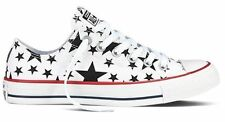 Converse White/Black Starred Women Men Trainers Sport Shoes Sneakers All Sizes~