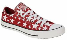 Converse All Star Red Starred Women Men Trainers Sport Shoes Sneakers All Sizes~