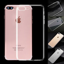 For iPhone 7/7 Plus Clear TPU Skin Cover Ultra Thin Slim Silicone Soft Back Case