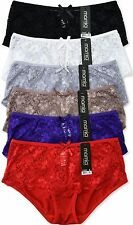 Pack of 6 pcs Lace Hipster/Boyshorts Panties Size S,M,L,XL New LP7265PH