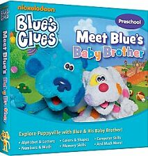 FREE SHIP! BLUE'S CLUES: MEET BLUE'S BABY BROTHER, PC CD-Rom Nick Arcade!
