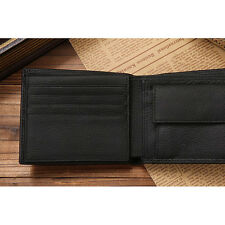Euro Style coin wallets designer with Flip-Up ID Window genuine leather wallet
