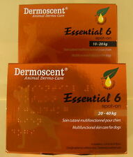 DERMOSCENT ESSENTIAL 6 ™ 10-20kg & 20-40kg SPOTON SKIN CARE FOR DOGS.4 pipp/pack