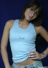 FCUK *New* Ladies tank top LIGHT BLUE French Connection NWT