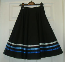 NEW RAD IDTA CHARACTER BALLET SKIRT 3 shades BLUE RIBBONS ANY SIZE.Poly/cotton
