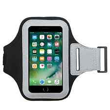Black Color Soft Sport Gym Running Armband Cover Jogging Holder Case