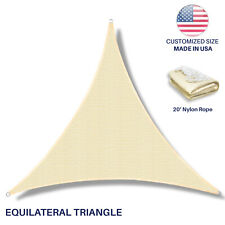 Custom equilateral triangle Beige Sun Shade Sail Canopy Awning  Patio Pool Cover