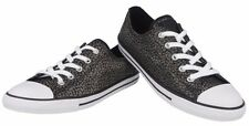 Converse Womens Black/Leaves Decoration Trainers Sport Shoes Sneakers All Sizes~