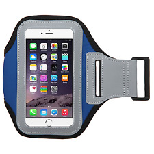 Dark Blue Color Soft Sport Gym Running Armband Cover Jogging Holder Case