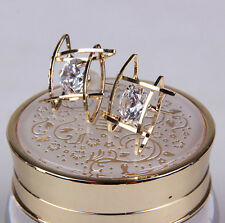 Hot Stud Fashion Ear Lovely Women Rhinestone Earrings Elegant Crystal Square