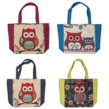 Cutest Owl Bird Pattern Women Handbag & Shoulder Bag O-Bag Cotton Tote Shopper