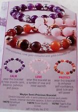 AVON Weylyn Semi Precious bracelet Calm, Love, Protect New in Pack Ideal Gift (C