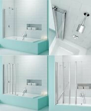 MERLYN SECURESEAL BATH SCREEN SHOWER GLASS SQUARE FOLDING PANEL STORAGE CHROME