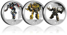 Transformers Dark Of The Moon 1oz Proof Silver Coin - Optimus Megatron Bumblebee