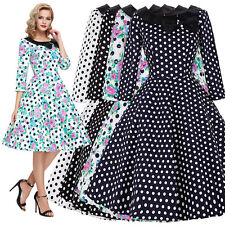 Vintage Retro Swing 1950's 60s Cocktail Pinup Evening Party Prom Dress PLUS SIZE