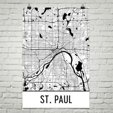 St. Paul MN Street Map Poster