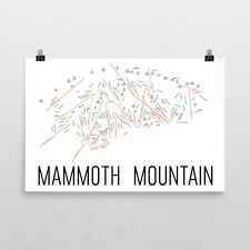 Mammoth Mountain Ski Trail Map Poster