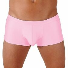 Mens Lime Classic Trunk Boxer Swimsuit with Front Pouch by Gary Majdell Sport