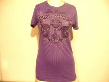 HARLEY-DAVIDSON WOMEN'S SHORT SLEEVE PURPLE TOP/SHIRT SIZE LARGE NEW/TAGS