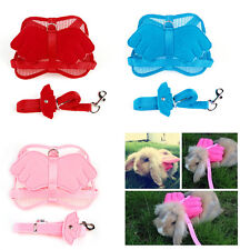Cute Adjustable Pet Angle Wing Rabbit Ferret Pig Harness Leash Lead Strap Nylon