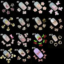 10pcs Bling Glitter 3D Nail Art Decorations Alloy Rhinestone Charm Cute Tips DIY