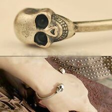 Alloy Metal Retro Jewelry Skeleton Skull Cool Cuff Bangle Bracelet Gothic Rock