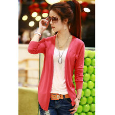 Hot Women Autumn Irregular Hem Casual Tops Knit Sweater Cardigan Jacket Coat