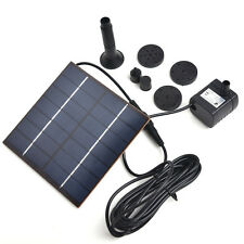 Eco-Solar Power Water Pump Panel Kit Fountain Pool Garden Pond Submersible Water