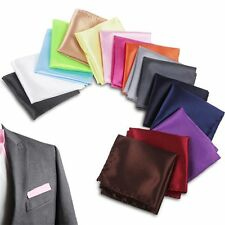 Square Solid For Wedding Dress Party Handkerchief Pocket Square Hanky Silk