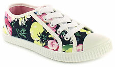 NEW GIRLS KIDS CHILDREN  CHATTERBOX LACE UP CANVAS SUMMER BEACH SHOES SIZE