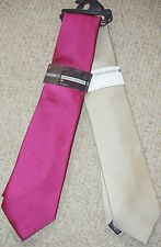 MENS MACHINE WASHABLE TIE IN PURPLE PINK OR GOLD FROM MARKS & SPENCER BNWT