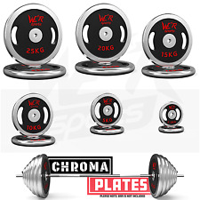 We R Sports Cast Iron Chrome Weight Plates Dumbbell Barbell Free Weight Plate