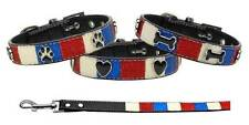 PATRIOTIC Ice Cream Dog Collar & Leash * Glittery 4th of July American Themed