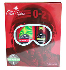 Old Spice Shower Gel & Deo Spray Gift Set - Danger Time / Whitewater / Wolfthorn