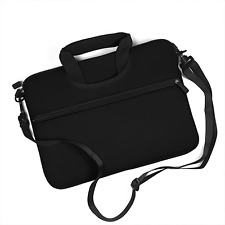 Black w/ Front Pocket Handle Business Briefcase School Messenger Laptop Bag Case