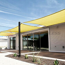 Sun Shade Sail Canary Yellow Square Canopy Awning  Patio Pool Outdoor UV W/KIT