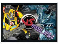 Transformers Black Wooden Framed BB Vs Steeljaw Maxi Poster 61x91.5cm