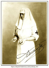EMPRESS ALEXANDRA OF RUSSIA AS SISTER OF CHARITY PRINT. ALIX OF HESSE. ROMANOV