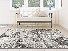RUGS AREA RUGS 8x10 AREA RUG 5x7 CARPET MODERN RUGS DISTRESSED RUG GRAY RUG NEW~