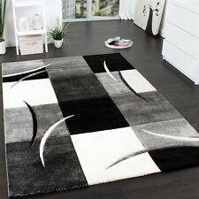 Grey Rug Geometric Thick Soft Hall Floor Mat Check Small Large XL New Floor Mat